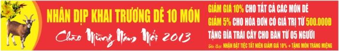 Bang ron chao nam 2013